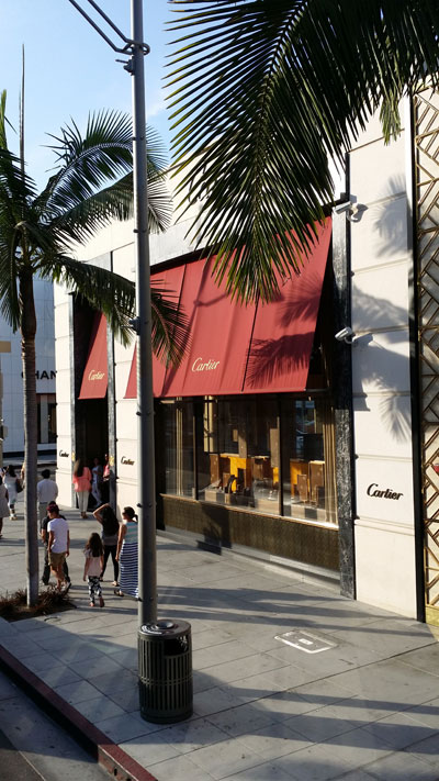 Usa los angeles hollywood santa monica beverly hills for Cartier in beverly hills